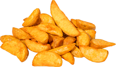 Gekruide patato wegdes
